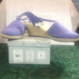 Bay studio espadrille sandals 8M ocean color